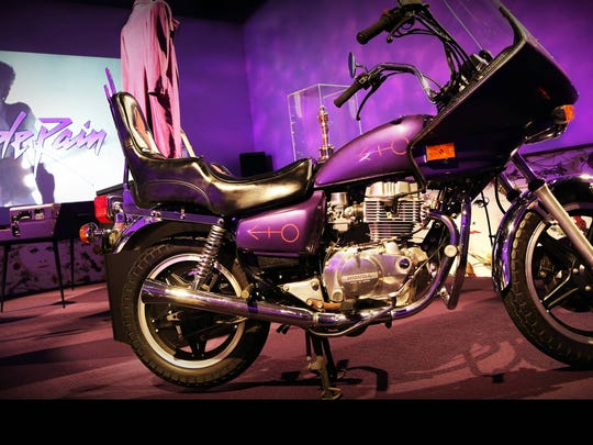 "In the ""Purple Rain"" exhibit is memorabilia from the"