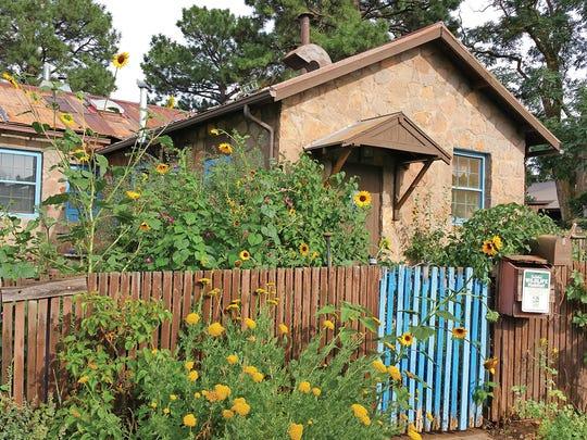 Cottage like this one on Los Alamos' Bathtub Row were