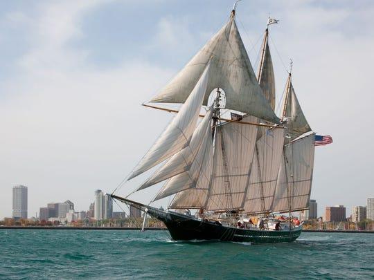 The tall ship Denis Sullivan will arrive in Sheboygan on Tuesday.