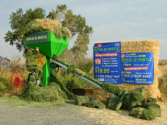 Montana Bale Trail/What the Hay contest: Clint Carr's Bale-O-Matic.