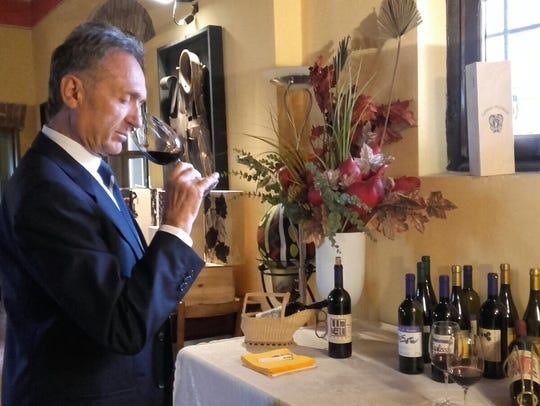 Massimiliano Marucchi, an Italian wine master from