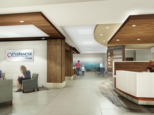 Parkwest's renovation and expansion will include a dedicated lobby for surgical patients.