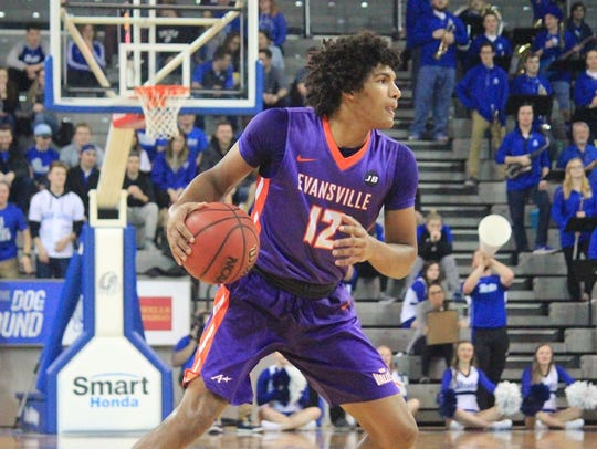 Evansville sophomore Dru Smith had 14 points, four