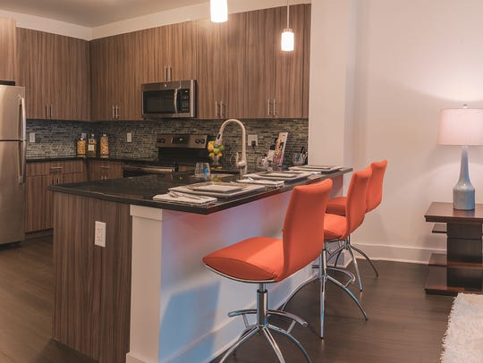 All the units in Cobalt feature kitchens with 42-inch cabinets with granite counters.