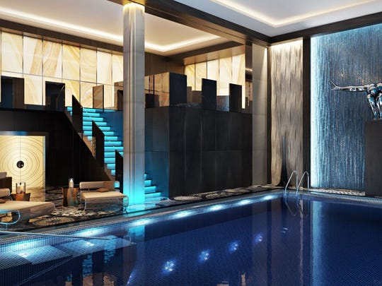 Artist's rendering of the relaxation pool for the Hotel Retlaw.