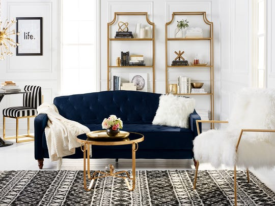 """An example of the """"glam'' style that will be featured on Walmart.com's new home experience."""