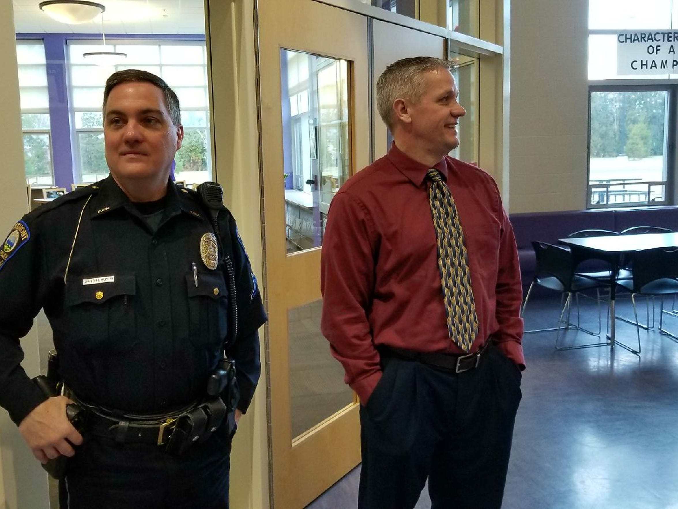 School Resource Officer Jim Burkin and Fremont Middle