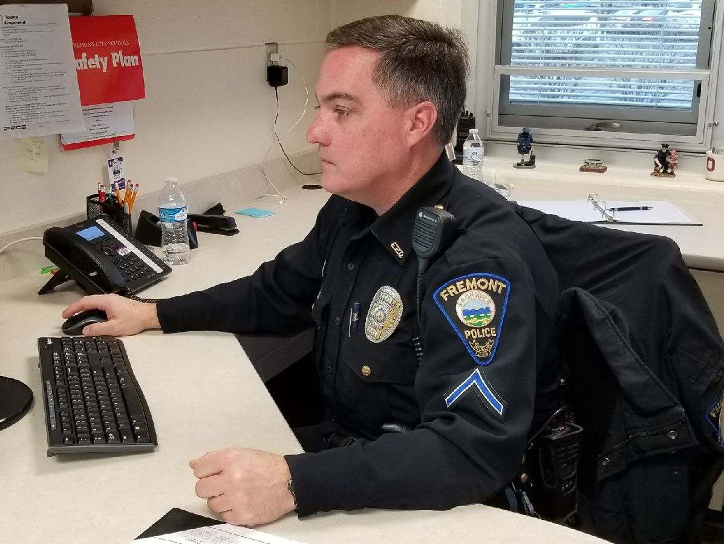 Fremont police officer Jim Burkin, who became the new