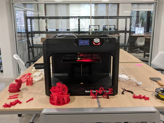 The Innovation Hub houses the latest technology, including 3D printers.