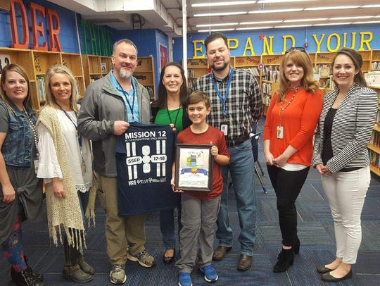 Pictured at Blue Grass Elementary are Gifted and Talented