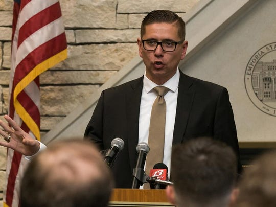Craig Doty was introduced as the new coach at Emporia State in April