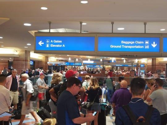 Phoenix Sky Harbor International Airport travelers