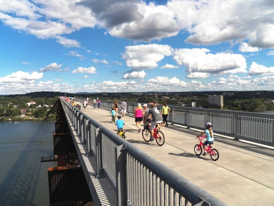 Walk, run, cycle or skate across Walkway Over the Hudson,