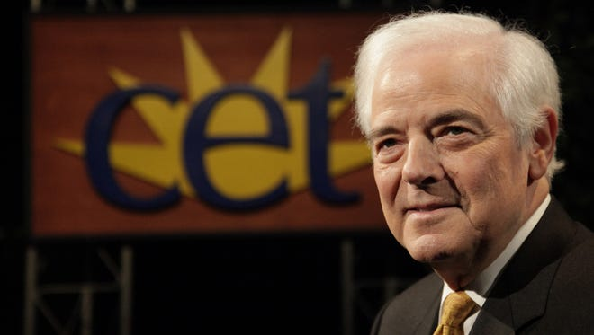 Legendary Cincinnati broadcaster Nick Clooney in 2009, when he taped a series of broadcasts about his career at WCET with John Kiesewetter.
