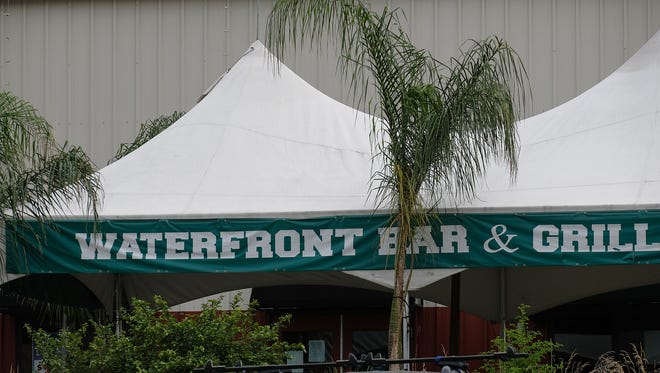 The outdoor patio is open at the Waterfront Bar & Grill on Tuesday, July 31, 2018.