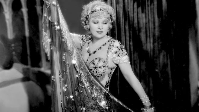 "Mae West in a scene from the 1933 film ""I'm No Angel."""