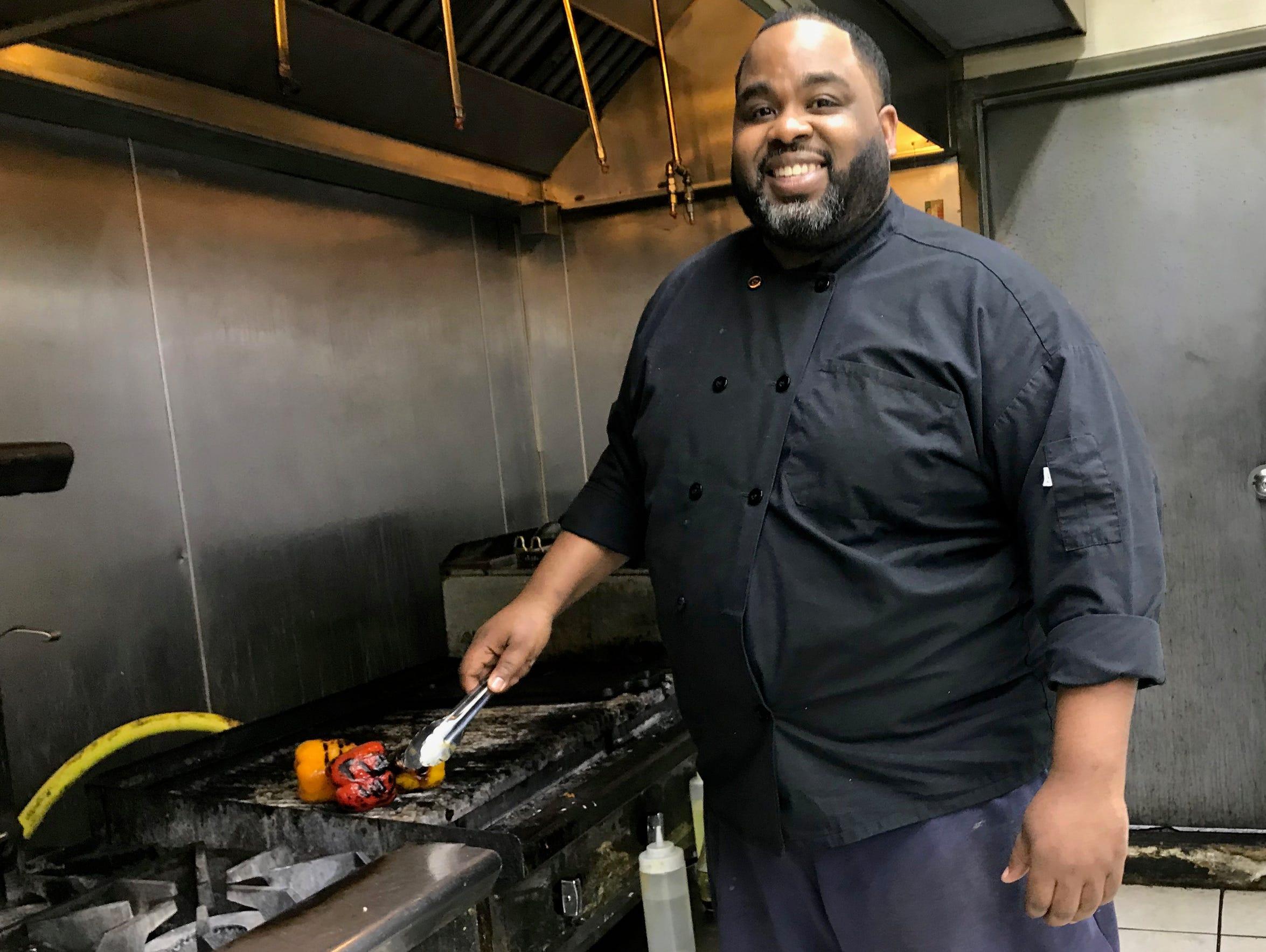 Muhtasib Dirul-Islam at his restaurant, SumThingGood,