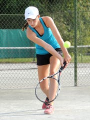 Lexington sophomore Sylvia Goldsmith was one of only two freshmen to make it to state in Division II singles last season.