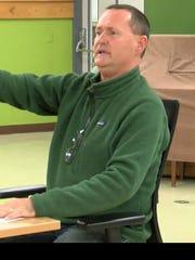 Mark Dickinson of South Burlington at a Nov. 6 City