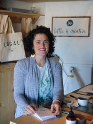 Kathryn Hager, owner of Little h Creative, recently