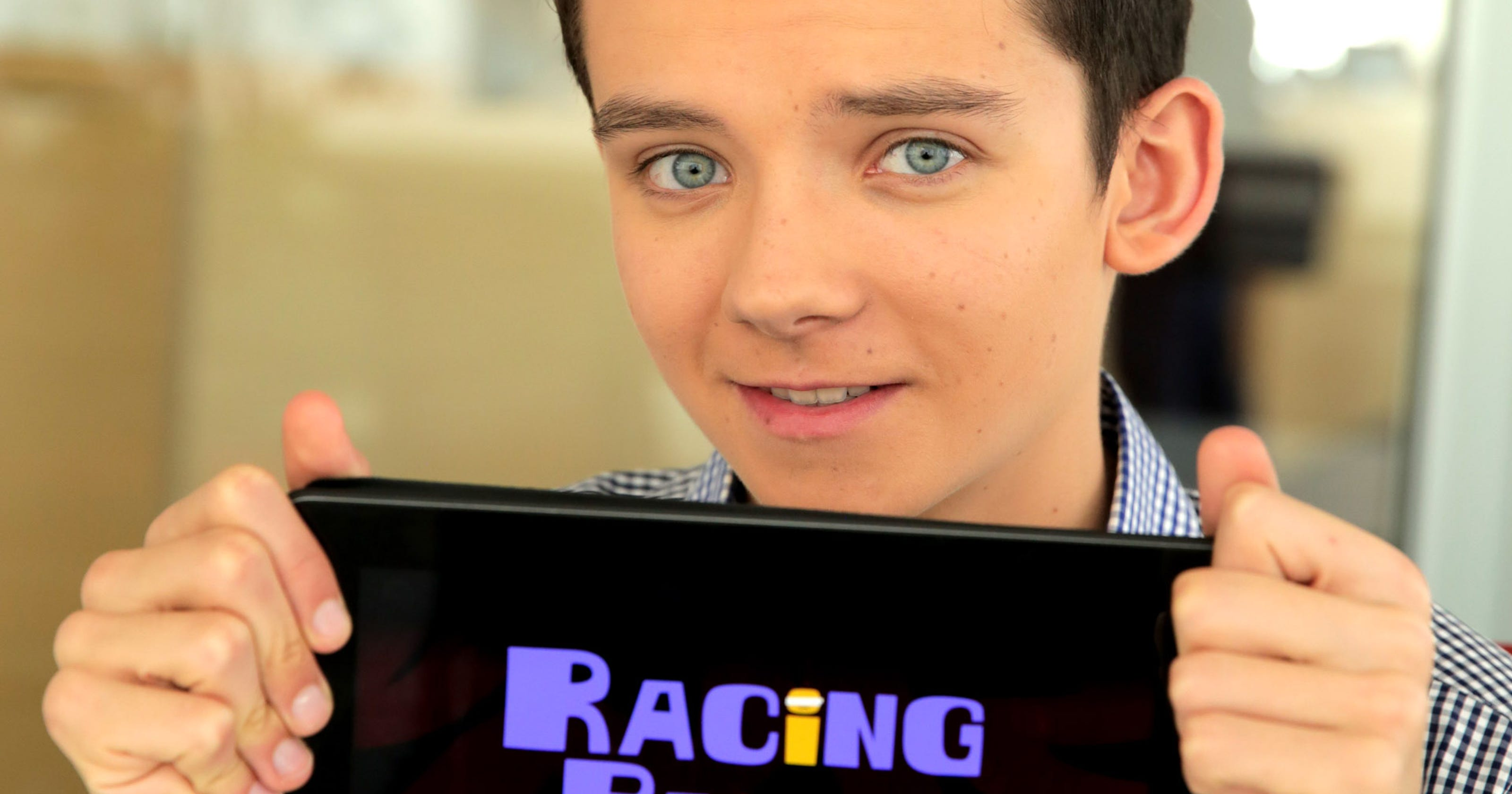 Talking Your Tech: Asa Butterfield races with iPad app