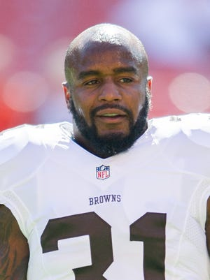 Cleveland Browns strong safety Donte Whitner during a game against the Ravens this season.