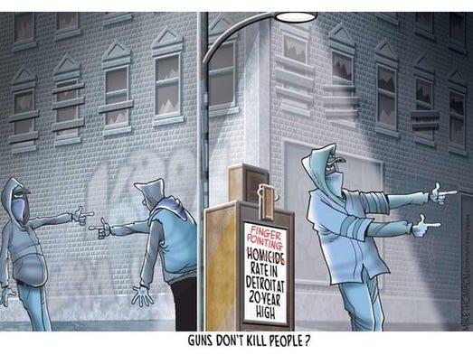 Detroit gun deaths