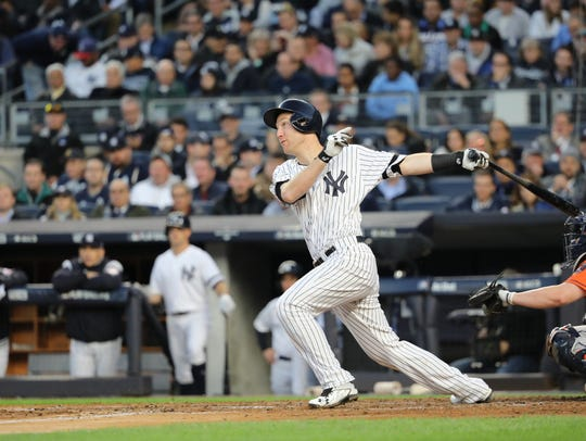 Todd Frazier dropped a single in shallow centerfield
