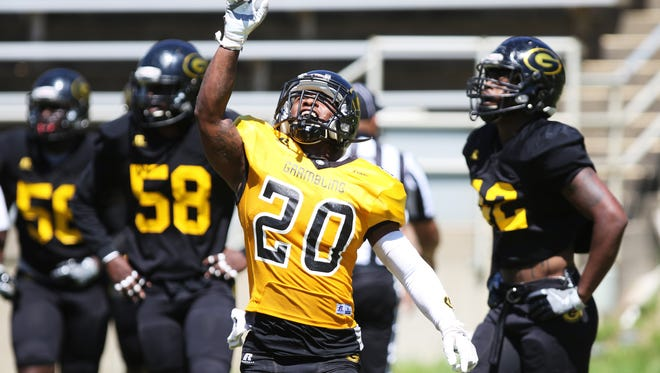 Grambling's Black and Gold teams tie 18-18 during their annual spring game on Saturday, April 1, 2017.