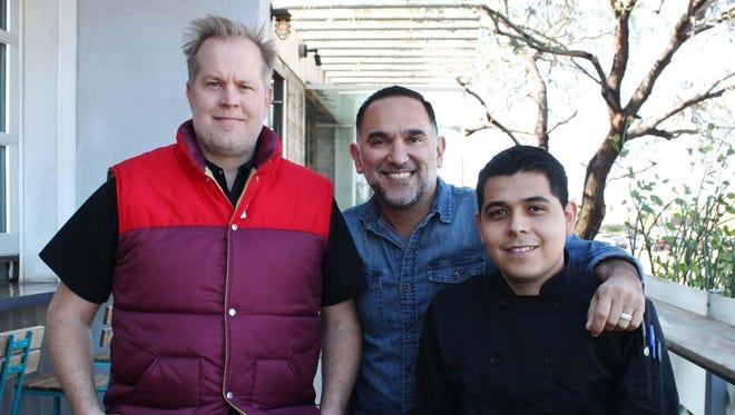 Chef Aaron Chamberlin, artist Gennaro Garcia and chef Suny Santana will open Taco Chelo on Roosevelt Row.