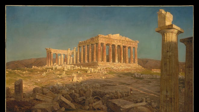 """""""The Parthenon,"""" 1871, Frederic Church, oil on canvas. The Metropolitan Museum of Art, New York. Bequest of Maria DeWitt Jesup, from the collection of her husband, Morris K. Jesup."""
