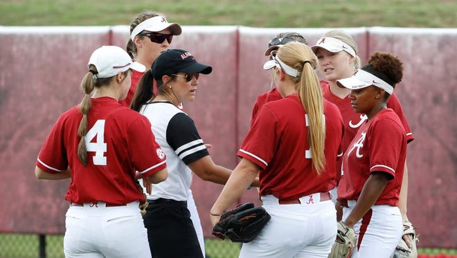 Meeting on the mound in Alabama's regional win over Oregon State on  Sunday, May 20