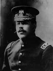 A studio portrait from about 1913 of Mexican Gen. Francisco