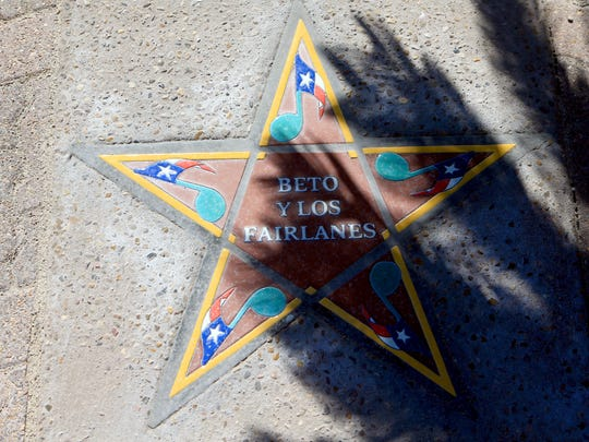 Beto Y Los Fairlanes's star was installed Thursday, May 31, 2017, at the South Texas Music Walk of Fame in Corpus Christi. The six 2017 inductees will be honored Saturday.