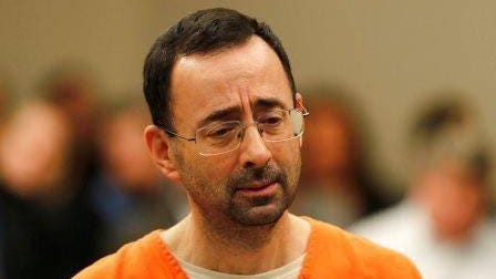 Dr. Larry Nassar, a sports doctor convicted of sexually assaulting girls while working for USA Gymnastics and Michigan State University, was sentenced to 100-200 years in prison in 2017.