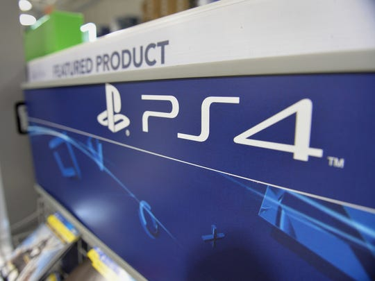 A Sony PlayStation 4 console display is viewed in this