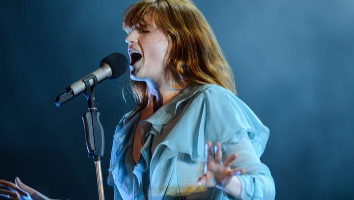 Florence and the Machine perform on the Hangout Stage to close out Sunday at the 2016 Hangout Music Festival.
