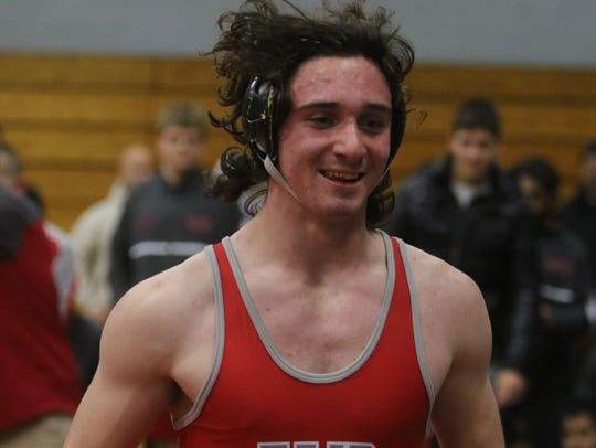 Ben Cameron of Fair Lawn after he pinned Deren Cercioglu