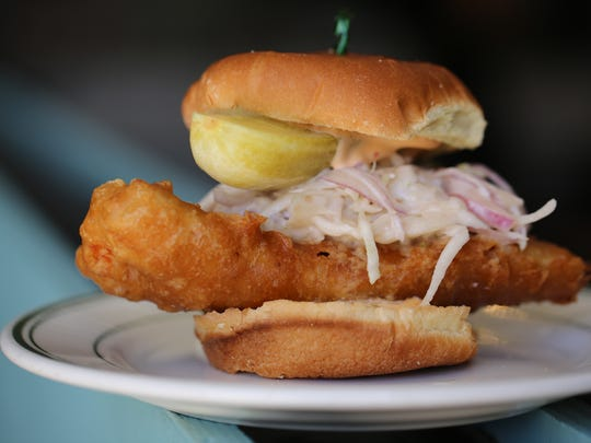 The crispy whitefish sandwich from Voyager in Ferndale