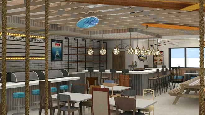 Crab and Mermaid's theme is casual seafood sourced from America's oceans.