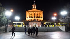 The State Capitol building in Nashville, Tenn.