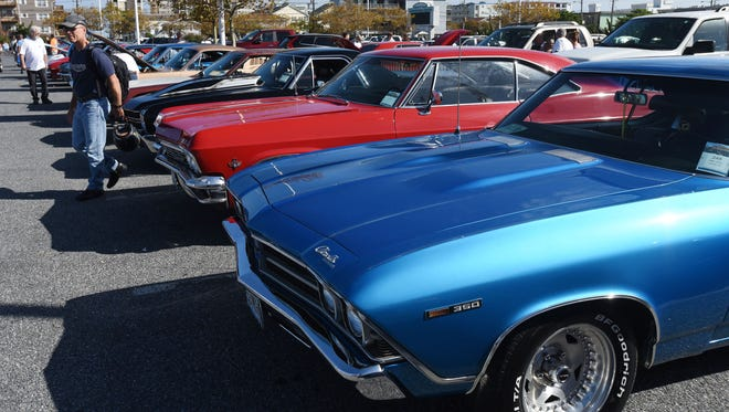 Chevy's line the Convention Center parking lot during Endless Summer Cruisin' 2017 Saturday, Oct. 7, 2017. (Photo by Todd Dudek for The Daily Times)