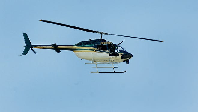 File photo of a Brevard County Sheriff's Office helicopter responding to a scene in 2012.
