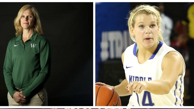Pat Summitt (bottom) shaped both Shelley Collier (top left) and her daughter Katie, who plays at MTSU.