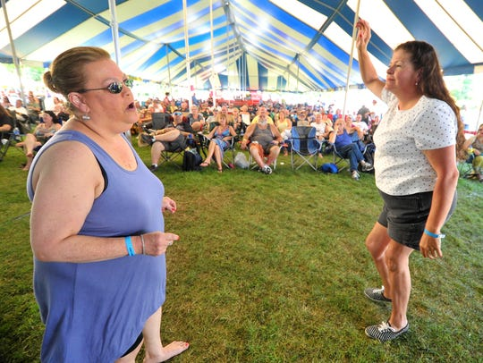 Patrons dance to the music of Jimmi and the Band of