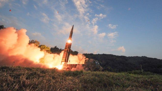South Korean exercise on Sept. 4, 2017.