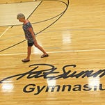 Norma Gibbs Beshears remembers her high school teammate, Pat Head Summitt, who died on Tuesday, June 28, 2016. The high school gym at Cheatham County High School is named after Summitt.
