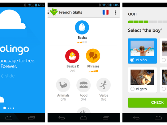 A screenshot from the app Duolingo.
