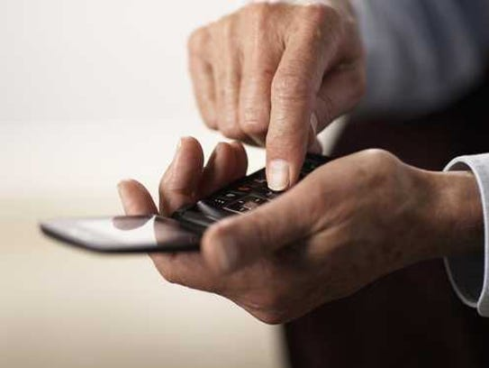 Man using a mobile phone.