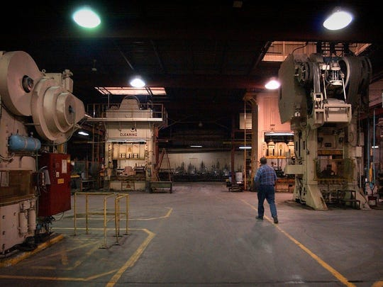 Don Heider, former plant manager of Metal Ware's Algoma